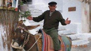 Voy- Santorini, Donkey and Owner