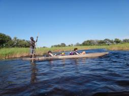 Boat ride in Botswana